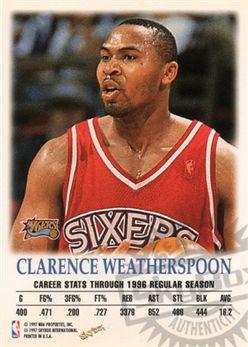 1997-98 SkyBox Premium Autographics 109 Clarence Weatherspoon