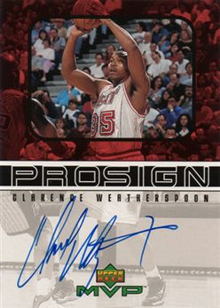 1999-00 Upper Deck MVP ProSign CW Clarence Weatherspoon