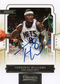 2009-10 Classics 169 Terrence Williams RC AU