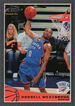 c76ee637fea39a 2009-10 Topps Black 206 Russell Westbrook