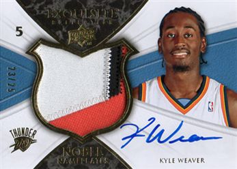 2008-09 Exquisite Collection Noble Nameplates #NAKW Kyle Weaver