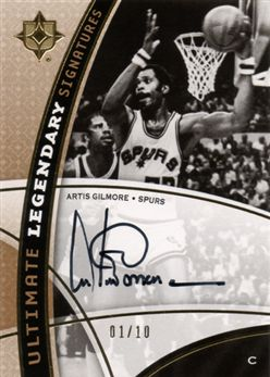 2008-09 Ultimate Collection Legendary Signatures Artis Gilmore LSAG