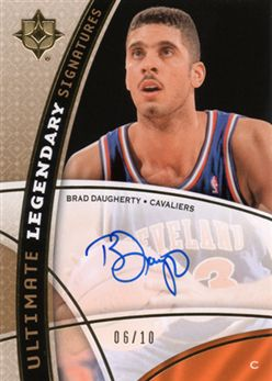 2008-09 Ultimate Collection Legendary Signatures Brad Daugherty LSBD