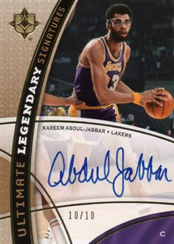 2008-09 Ultimate Collection Legendary Signatures Kareem Abdul-Jabbar LSKA