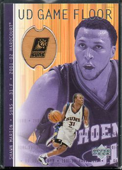2001-02 Upper Deck Hardcourt UD Game Floor #MA Shawn Marion $6.00