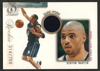 2000-01 Fleer Legacy 91 Kenyon Martin JSY RC $20.00