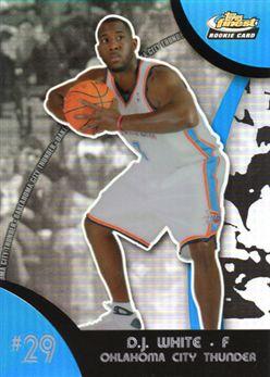 2007-08 Finest Refractors Blue #129 D.J. White