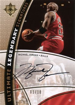 2008-09 Ultimate Collection Legendary Signatures LSMJ Michael Jordan