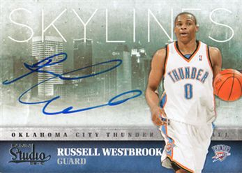 a8917267b7cce2 2009-10 Studio Skylines Signatures 21 Russell Westbrook