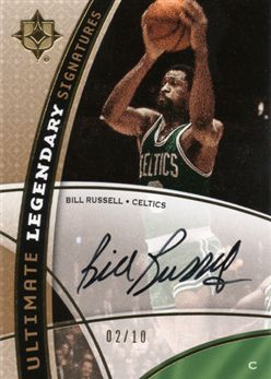 2008-09 Ultimate Collection Legendary Signatures LSBR Bill Russell