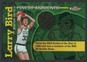 2006-07 Finest Moments Refractors LB Larry Bird $15.00