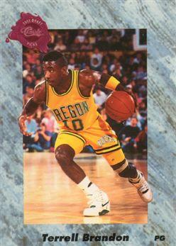 1991 Classic Four Sport French 154 Terrell Brandon