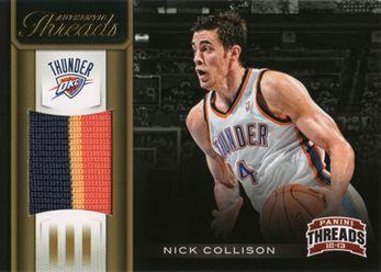 2012-13 Threads Authentic Threads Prime 11 Nick Collison