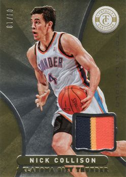 2012-13 Totally Certified Gold Materials Prime 166 Nick Collison