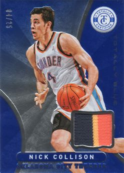 2012-13 Totally Certified Blue Materials Prime 166 Nick Collison