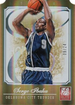 2012-13 Elite Status Gold #62 Serge Ibaka