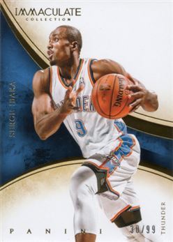 2013-14 Immaculate Collection #67 Serge Ibaka