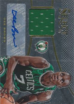 2013-14 Select Jersey Autographs #21 Dee Brown