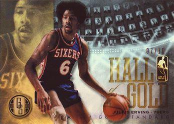 2012-13 Panini Gold Standard Hall of Gold Platinum #1 Julius Erving