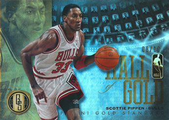2012-13 Panini Gold Standard Hall of Gold Platinum #2 Scottie Pippen