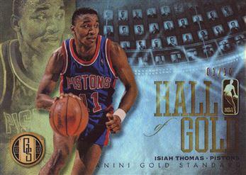 2012-13 Panini Gold Standard Hall of Gold Platinum #6 Isiah Thomas
