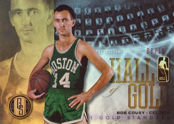 2012-13 Panini Gold Standard Hall of Gold Platinum #8 Bob Cousy
