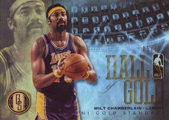 2012-13 Panini Gold Standard Hall of Gold Platinum #13 Wilt Chamberlain