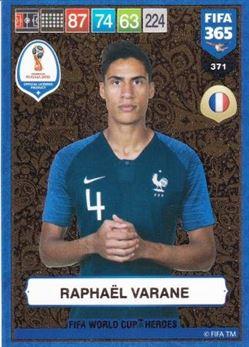 2018-19 Panini Fifa 365 Adrenalyn XL #371 Raphael Varane