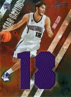 2009-10 Absolute Memorabilia Star Gazing Jumbo Jersey Numbers #18 Omri Casspi/25