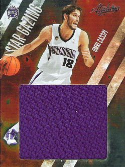 2009-10 Absolute Memorabilia Star Gazing Jumbo Materials #18 Omri Casspi/25