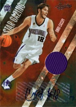 2009-10 Absolute Memorabilia Star Gazing Materials Signatures #18 Omri Casspi