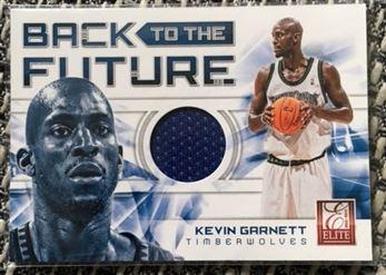 2012 Panini Elite Kevin Garnett Back to the Future Jersey Card