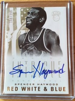 2012/2013 Intrigue Spencer Haywood Red, White & Blue Autograph