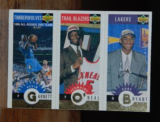 1996-97 Collector's Choice Mini-Cards Gold #M129 Kobe Bryant-Jermaine O'Neal-Kevin Garnett