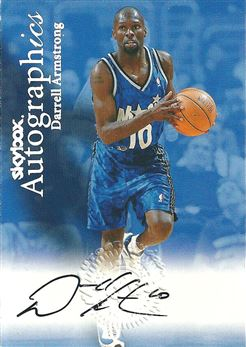 1999-00 SkyBox Premium Autographics #3 Darrell Armstrong