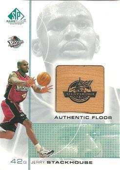 2000-01 SP Game Floor Authentic Floor #JS Jerry Stackhouse