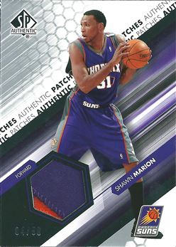 2004-05 SP Authentic Fabrics Patches #SH Shawn Marion /50