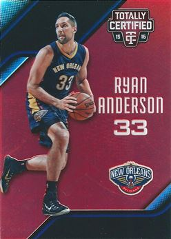 2015-16 Totally Certified Mirror Red #37 Ryan Anderson (Pelicans)