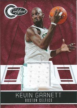 2010-11 Totally Certified Red Materials #25 Kevin Garnett /249 (Celtics)