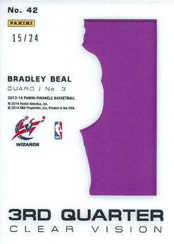 2013-14 Pinnacle Clear Vision 3rd Quarter #42 Bradley Beal (Wizards)