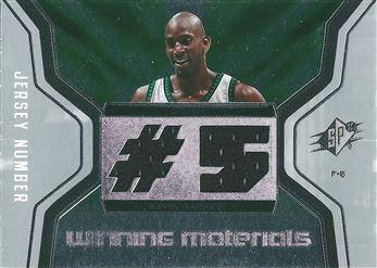 2007-08 SPx Winning Materials Jersey Number #WMJ-KG Kevin Garnett (Celtics)