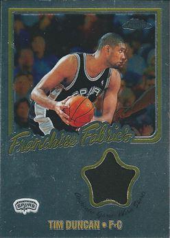 2002-03 Topps Chrome Franchise Fabric Relics #FF-TD Tim Duncan (Spurs)
