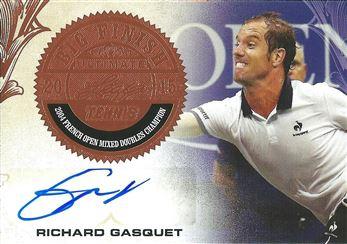 2015 Leaf Ultimate Tennis Big Finish Signatures #BFRG1 Richard Gasquet