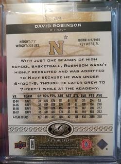 2011 Upper Deck All Time Greats Gold Spectrum #63 David Robinson