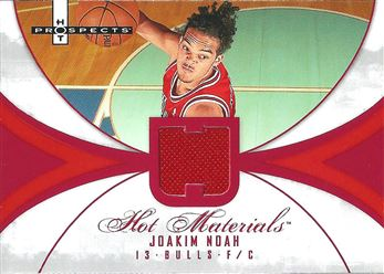 2007-08 Fleer Hot Prospects Hot Materials Red #JN Joakim Noah