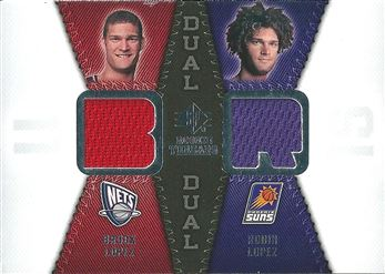 2008-09 SP Rookie Threads Rookie Threads Dual #RTDLL Brook Lopez/Robin Lopez