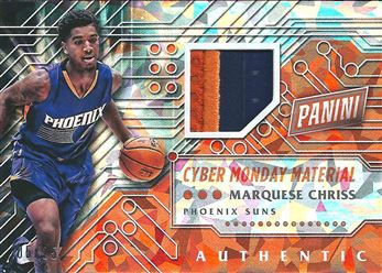 2016 Panini Cyber Monday Memorabilia Cracked Ice #5 Marquese Chriss