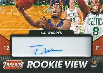 2014-15 Panini Threads Rookie View Autographs #25 T.J. Warren