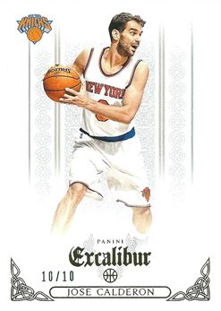 2014-15 Panini Excalibur Crusade Gold #59 Jose Calderon /10 (Knicks)