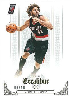 2014-15 Panini Excalibur Gold #146 Robin Lopez /10 (Trail Blazers)